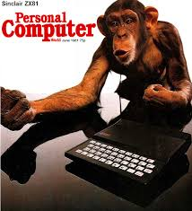 Cover of Personal Computer magazine; who are you calling a code monkey!