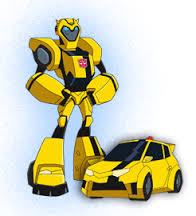 Transforer 'bumblebee' and car