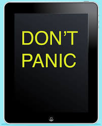 Dont panic - hitchhikers guide to the galaxy