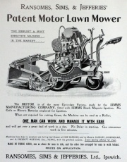 Flyer for an original Ransomes Lawnmower