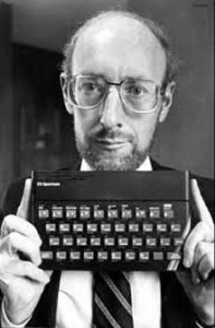 Sir Clive Sinclair with his ZX Spectrum
