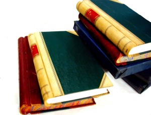 Pile of ledgers or books of accounts