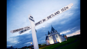 End of the world? Signpost at John O'Groats