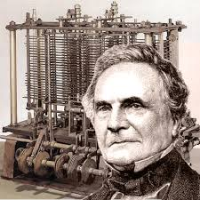 Charles Babbage with the world's first computer