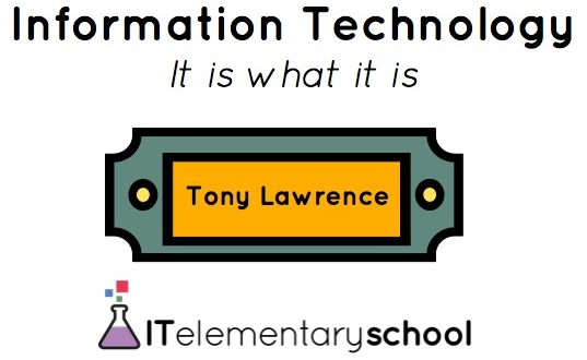 Slideshow introdution; Tony Lawrence and IT elementary school