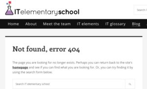IT elementary school page not found