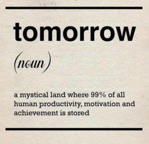 Alternative definition of a mystical tomorrow