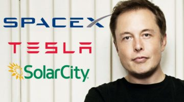 Musk and his biggest businesses, SpaceX and Tesla/SolarCity
