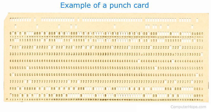 An example of a punched card
