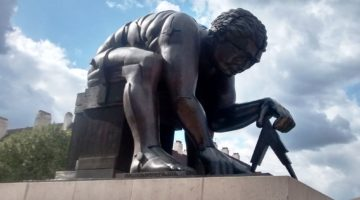 Newton statue outside the British Library